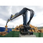 Crane Static Mounted Cranab Timber
