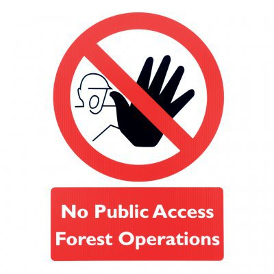 No Public Access Forest Operations Sign