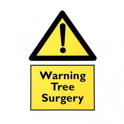 Warning Tree Surgery Sign